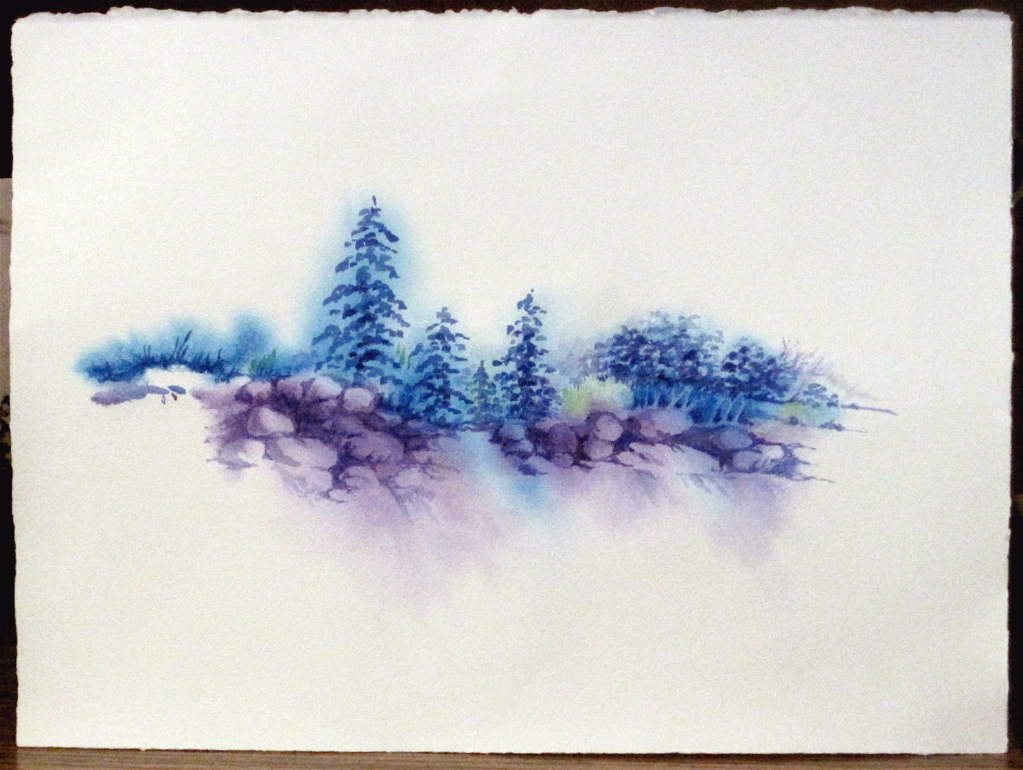 Cool reflections ren e goularte art in process for Cool watercolour