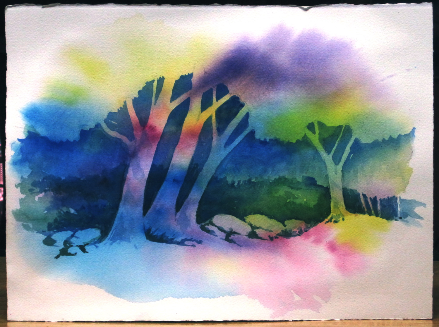 Watercolor painting techniques trees 2018 images for Creative watercolor painting techniques